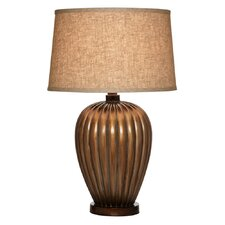 """Hand Applied Lined 28"""" H Table Lamp with Empire Shade"""