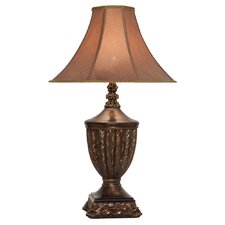 """Hand Applied 34"""" H Table Lamp with Bell Shade"""