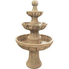 Napa Valley Fiberglass 3 Tiered Fountain