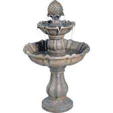 Patella Fiberglass 2 Tiered Fountain