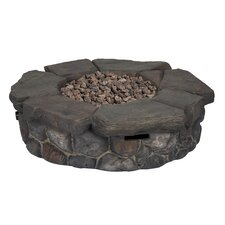 Granite Falls Stainless Steel Propane Fire Pit Table