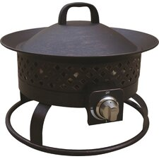 Aurora Steel Gas Outdoor Fireplace