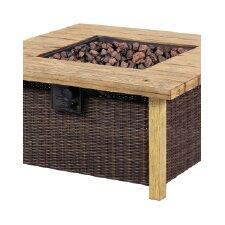Key Largo Rattan / Wood Fire Table