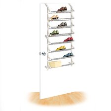 24 Pair OverDoor Shoe Rack