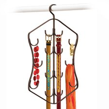 Hanging Accessory, Scarf, & Jewelry Organizer - 14 Hook