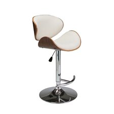 Jordana Adjustable Height Swivel Bar Stool with Cushion