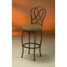 Oxford Barstool with Bella Mocha Fabric in Patina Moss