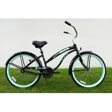 "Ladies 26"" Single Speed Aluminum Beach Cruiser in Black"