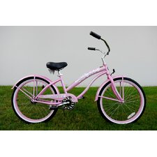 "Ladies 24"" Single Speed Beach Cruiser in Pink"