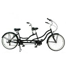 Independent Pedaling 7-Speed Tandem Beach Cruiser