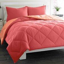 Microfiber Reversible Comforter/Sham Set