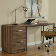 Parsons Desk with File Cabinet