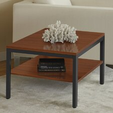 Square Corner Table with Shelf