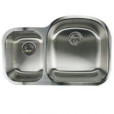 "Sconset 32.5"" x 20.69"" Double Bowl Undermount Kitchen Sink"