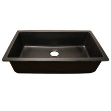"32.88"" x 18.88"" Single Bowl Granite Composite Rectangle Undermount Kitchen Sink"