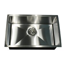 """Pro Series 28"""" x 18"""" Rectangle Undermount Small Radius Stainless Steel Kitchen Sink"""