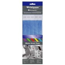"""Security Wrist Band, Tear-Resistant, 10""""x3/4"""", Various Colors Available"""