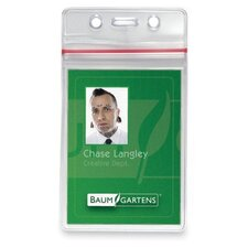"Sealable Card Holders,Vertical,3-3/4""x2-5/8"",50/PK,Clear"