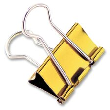 "Binder Clips, Large, 1-1/4"", 4 per Pack, Metallic Assorted (Set of 3)"