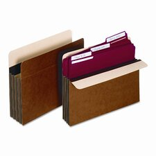 """Globe-Weis 5.25"""" Expansion Accordion Pocket, Straight, Redrope, Letter (10/Box)"""