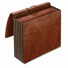 """Globe-Weis 5.25"""" Expansion Accordion Wallet, Straight, Redrope, Letter"""