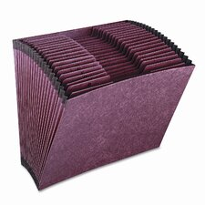 Globe-Weis Accordion Files without Flap, 21 Pockets, 1/3 Tab, Letha Tone, Letter