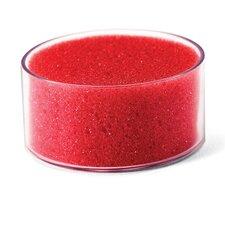 Sponge Cup Envelope Moistener, 3-inch Diameter, Clear/Red