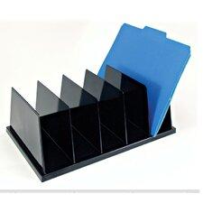 "Large Sorter, 5 Compartmentss, 9""x13-1/2""x5"", Black"