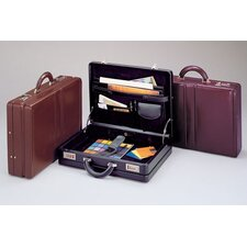 Expandable Top Grain Cowhide Leather Attache Case