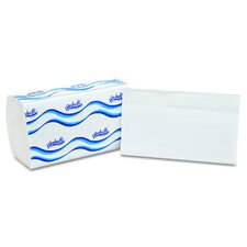 Embossed Single Fold 1-Ply Paper Towels - 250 Towels per Pack