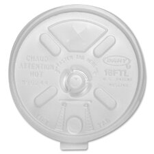 Dart Translucent Lids for 12-24 Oz. Foam Cups, 1000/Carton