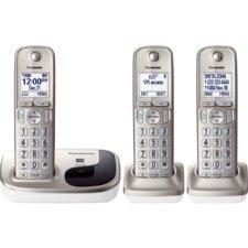 Panasonic Dect 6.0 Plus 3 Handset Expandable Digital Cordless Phone System