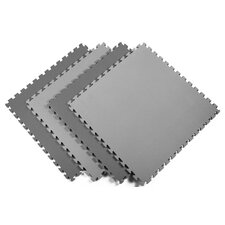 Reversible Sport Foam Mats in Black / Gray (Pack of 4)