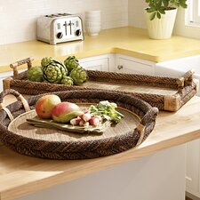 Rectangular Rope Top Serving Tray