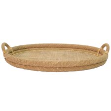 Oval Natural Rope Top Serving Tray