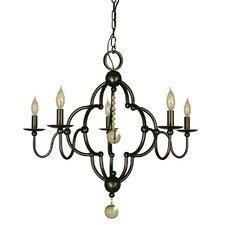 Quatrefoil 5 Light Candle Chandelier