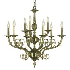 Napoleonic 9 Light Candle Chandelier