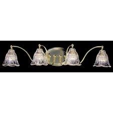 Crystal Nouveau 4 Light Vanity Light