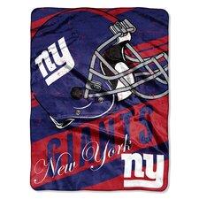 NFL NY Giants Deep Slant Micro Raschel Throw