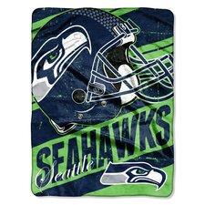 NFL Seahawks Deep Slant Micro Raschel Throw