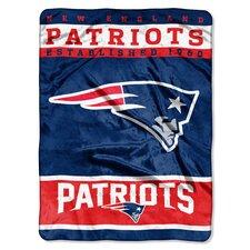 NFL Patriots 12th Man Raschel Throw