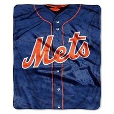 MLB Mets Jersey Raschel Throw