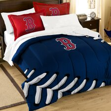 MLB Red Sox Contrast 3 Piece Twin/Full Comforter Set