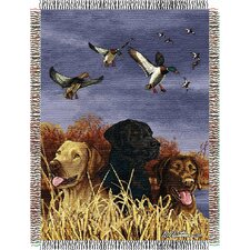 Entertainment Tapestry Hautman Brothers Bird Dog Throw Blanket