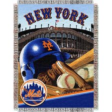 MLB New York Mets Tapestry Throw