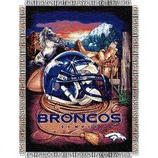 NFL Denver Broncos Tapestry Throw