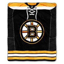 NHL Boston Bruins Super Plush Throw