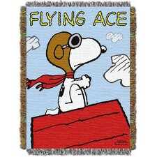 Entertainment Peanuts Flying Ace Tapestry Throw