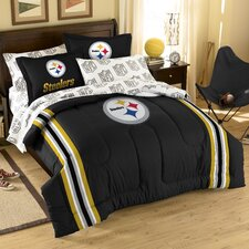 NFL Pittsburgh Steelers Embroidered Twin/Full Comforter Set