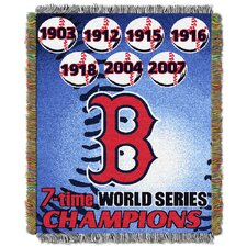 MLB Boston Red Sox Commemorative Tapestry Throw